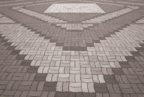 中庭のブロック